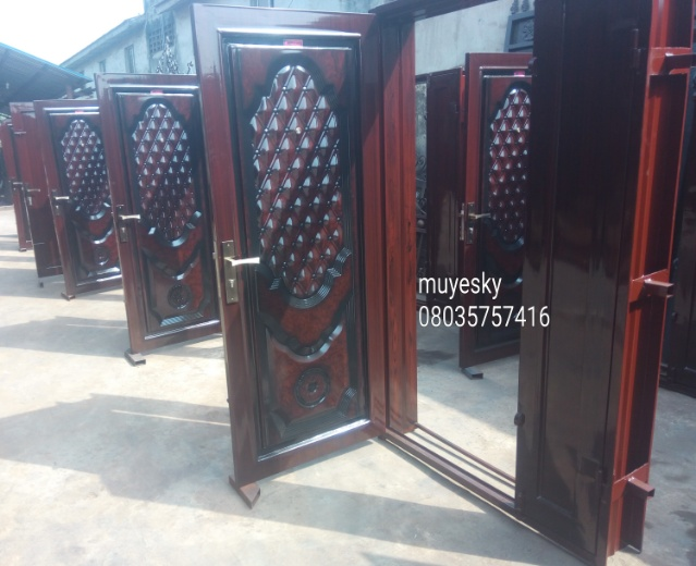 Security armored doors burglary proofs aluminium for Door design nigeria