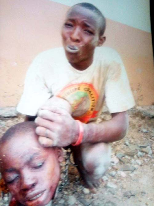 Pastor Caught With Human Head, Buffalo Horn And Charms In Oyo State {See Photo}