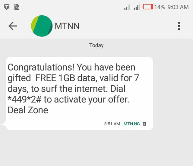 How To Get Free 1GB And 500MB Of Data On MTN Nigeria