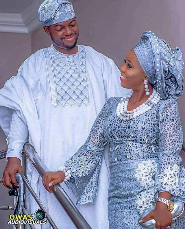 Nigerian Traditional Yoruba Wedding: Adorable Photo Of A Yoruba Couple In Traditional Attire