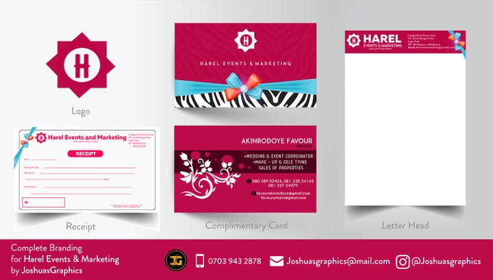 Logo Letter Head Business Card Receipt Design Complete – Receipt Design