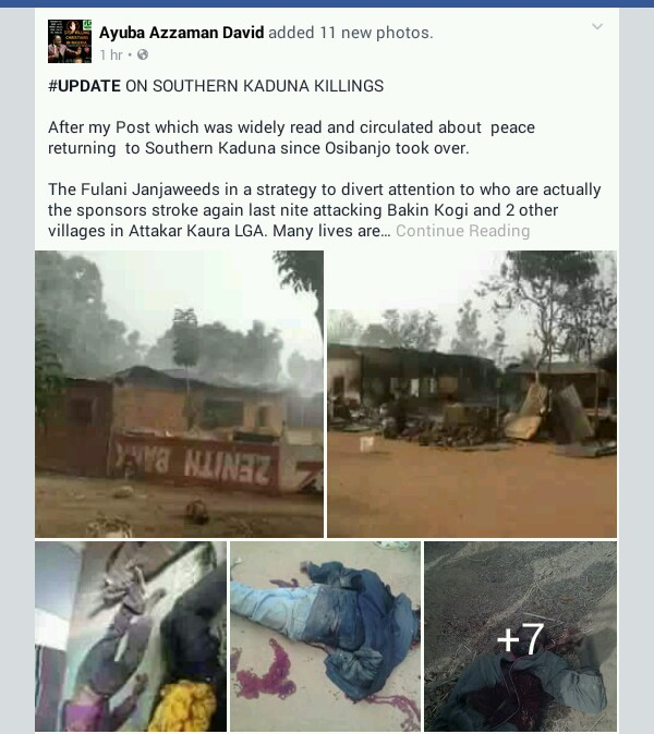 Fulani Herdsmen Attack 2 Villages In Kaduna
