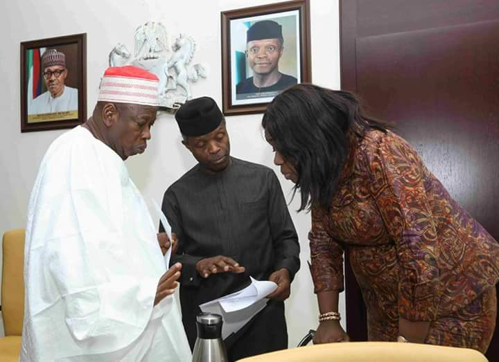 Osibanjo Meets With The National Rice Task Force