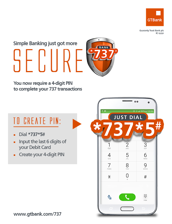 GTBank introduce more security measures for 737 Mobile banking Platform - Brand Spur