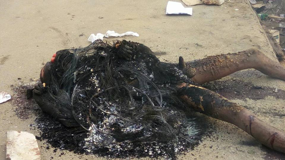 Car Battery Thieve Was Caught And Burnt In Calabar Cross