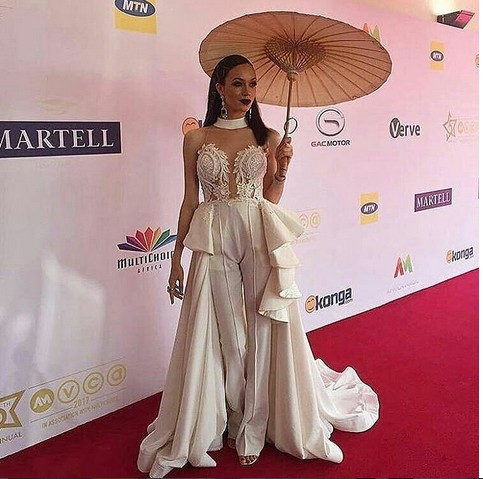 Nigerian Celebrities At AMVCA 2017 Red Carpet (Photos)
