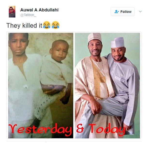 Nigerian Brothers Recreate Their Childhood Photo.