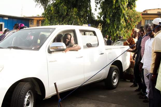 Image result for Gbajabiamila gives four vehicles lucky constituents