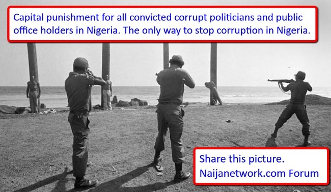 death penalty for corrupt politicians in