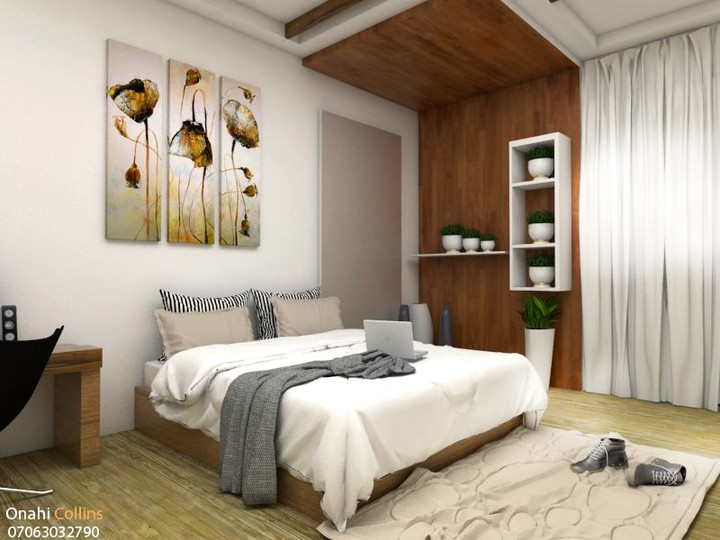 3d visualisation bedroom interior design art graphics for Interior decoration nairaland