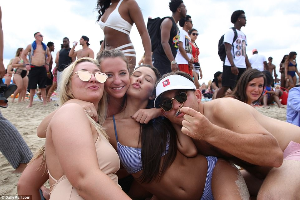 Spring break girls having sex
