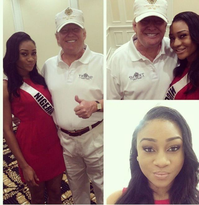 Queen Osem Celestine And Donald Trump Pictured Together