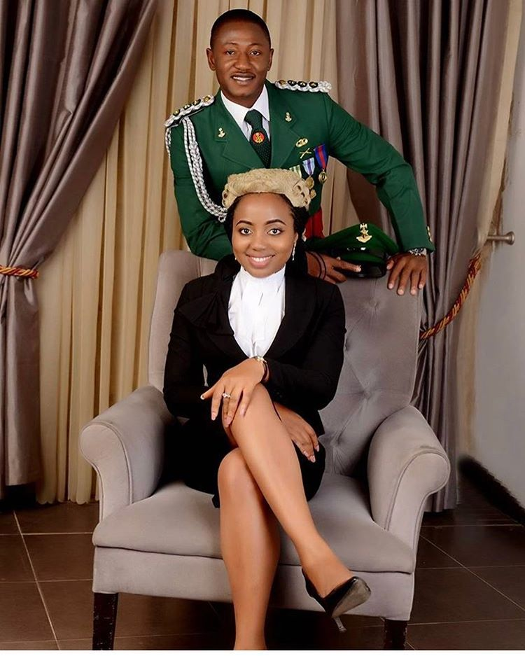 Lovely Pre-Wedding Photos Of A Soldier & A Lawyer