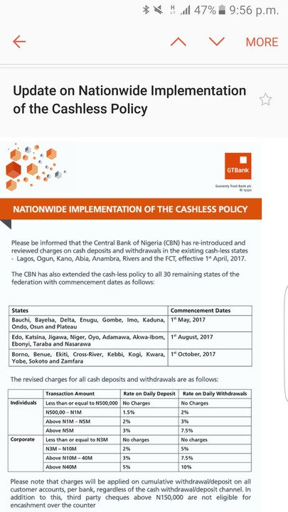 Effects of Cashless Economy Policy on National Development: Evidence from Nigeria