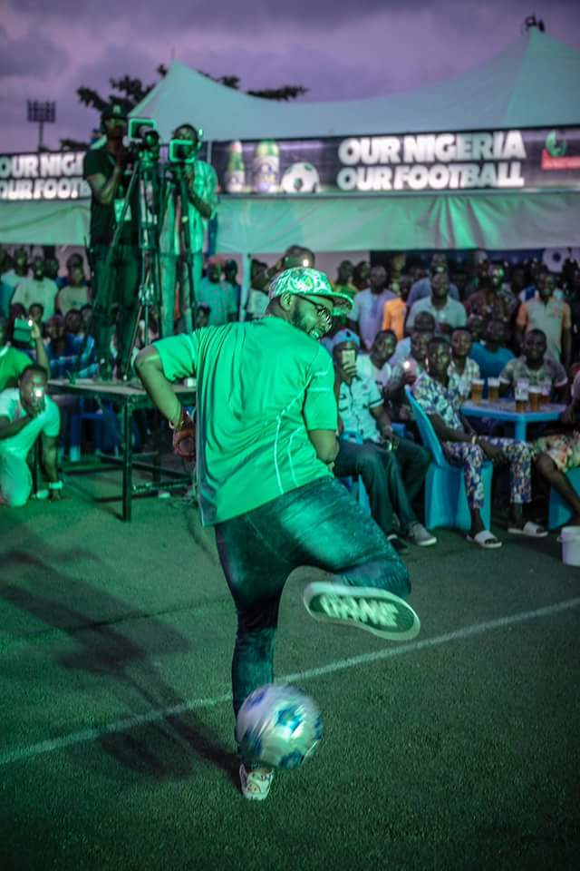 [PHOTOS] Falz Shows His Football Skills As He Hangs Out With NFF Boss Pinnick In Lagos