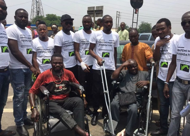Image result for Martins donates wheelchairs special athletes, others