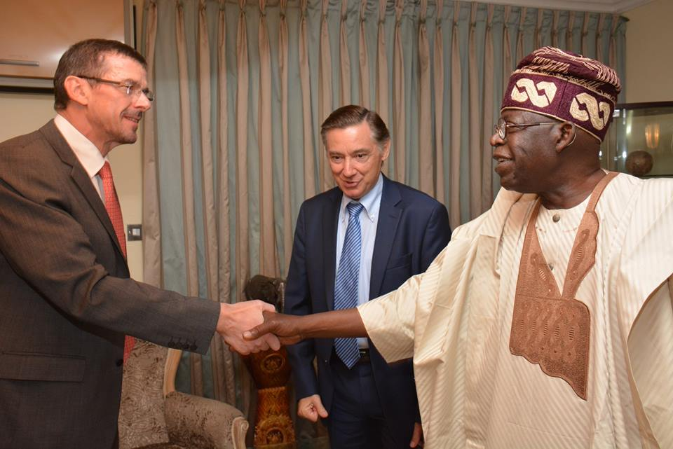 Image result for French Ambassador to Nigeria visits Bola Tinubu