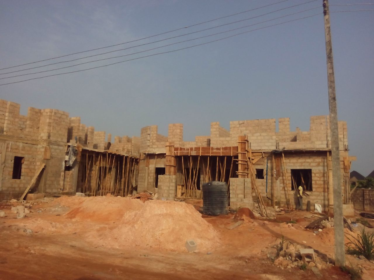 And in benin city the building we are doing here is growing