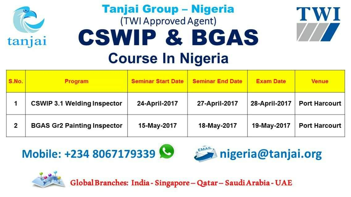 Cswip 31 Welding Inspection Course In Nigeria Career Nigeria