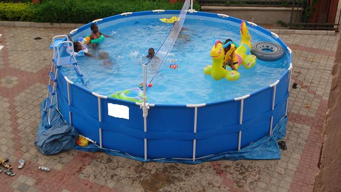 Surface swimming pools very affordable properties nigeria for A rectangular swimming pool is 6 ft deep