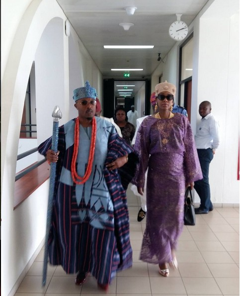 Photo: Oba Adewale Akanbi In A Gucci Shop — OsunDefenderOsunDefender