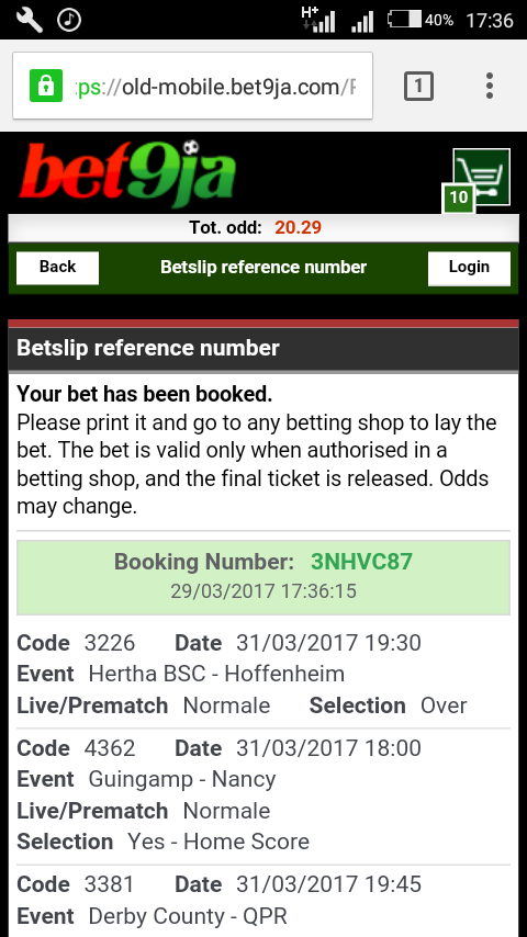 Old Mobile Bet9ja