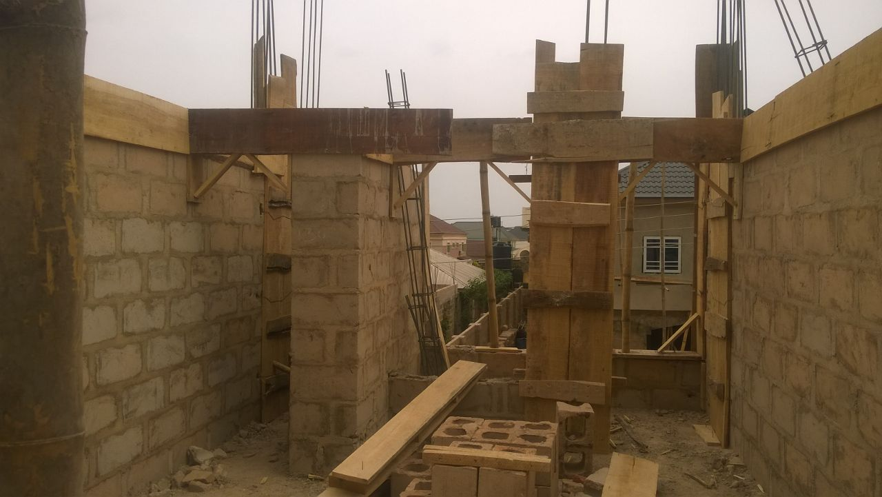 From benin city in our duplex block of flats building comes these pictures we are working on the carpentry for this house