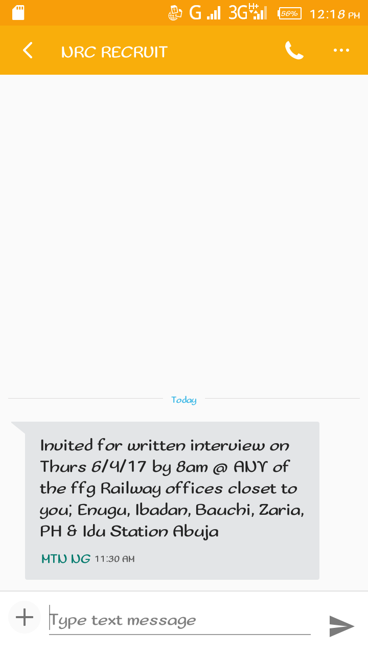 Nigerian railway corporation nrc interview invite who else got it i also got the interview invite stopboris Choice Image