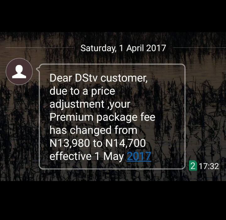 DSTV Subscription Fee To Increase From 1st May, Nigerians React