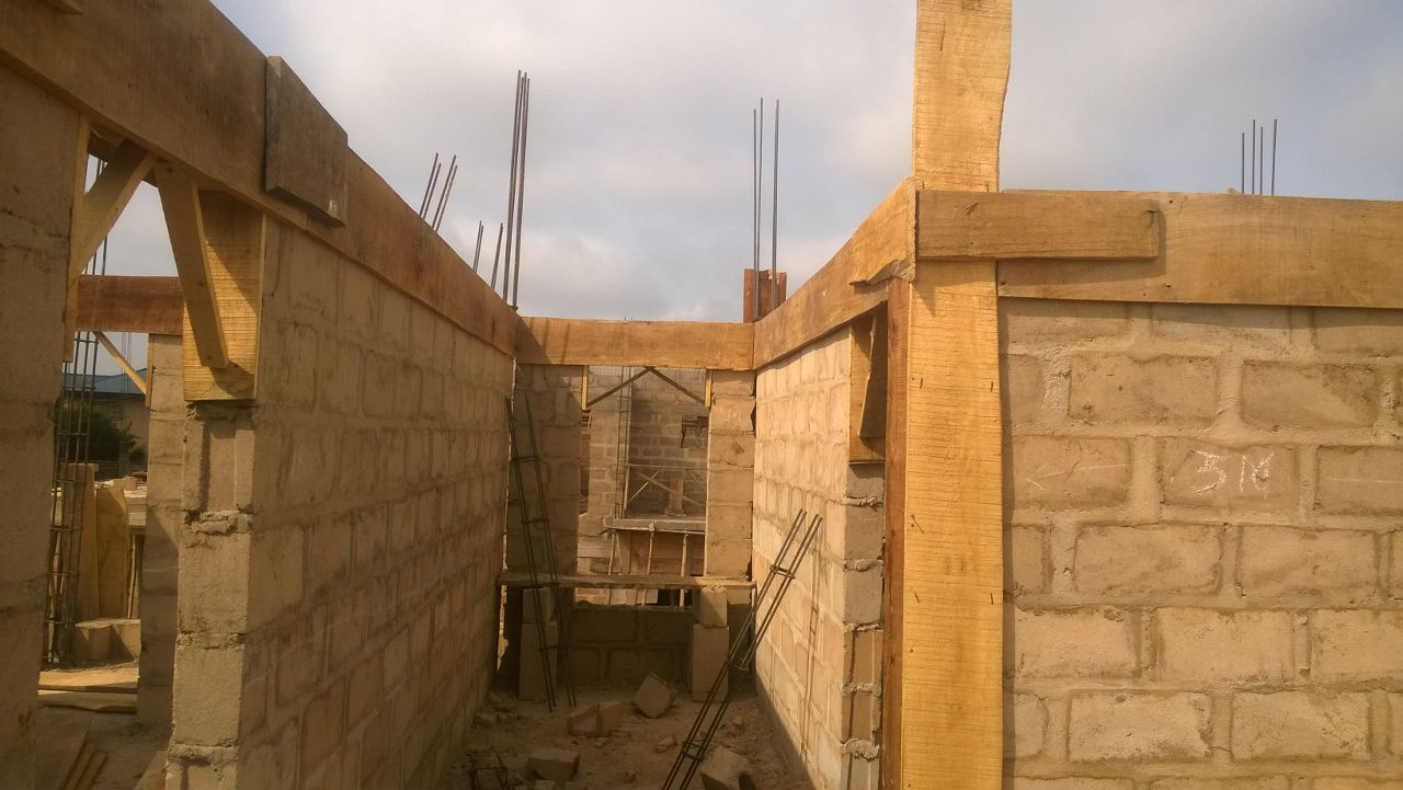 From benin city the edo state capital we are still doing the form works for the lintels we plan to cast by next week