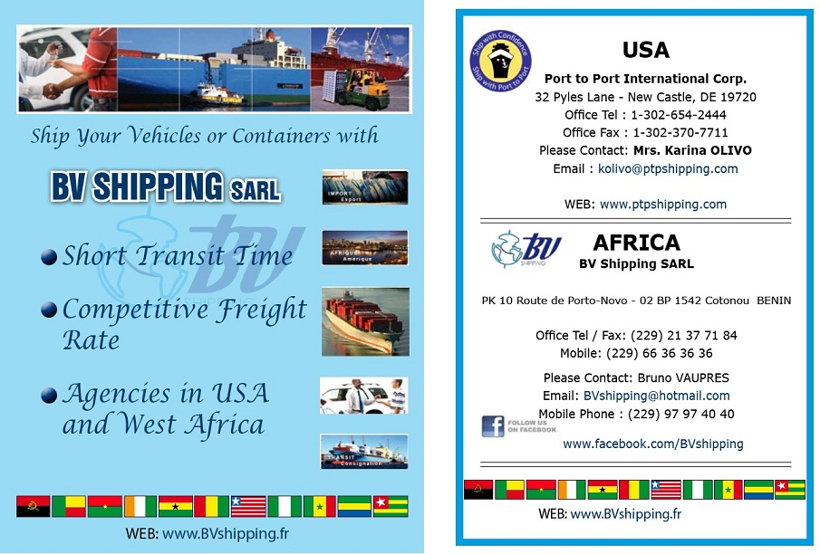 Re Shipping Car Or Truck From Usa To Nigeria Benin By Bvshipping 11 29am On Aug 30 2017