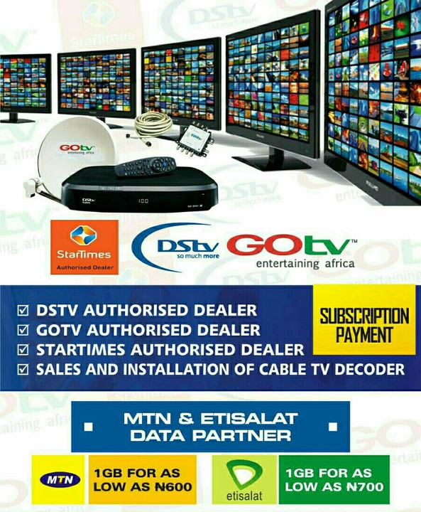 Startimes, GOTV Subscription Without Extra N100 Bank Charge