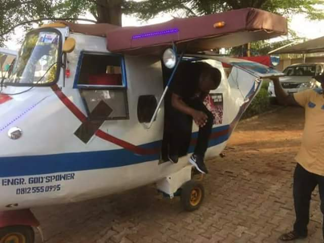 5145219 fbimg1491995820962 jpeg7c1850fa2a4524e510ee7158d828bd88 - Nigerian Youth Who Converted Keke To An Aeroplane Becomes Online Sensation (Photos