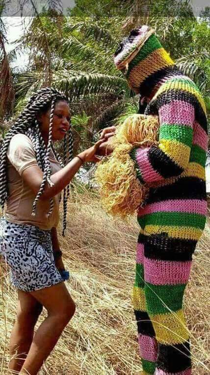 Masquerade Proposes To Girlfriend In Abia State (Photo)
