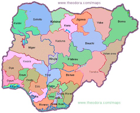 Top Map Of Nigeria With States Images - Printable Map - New ...