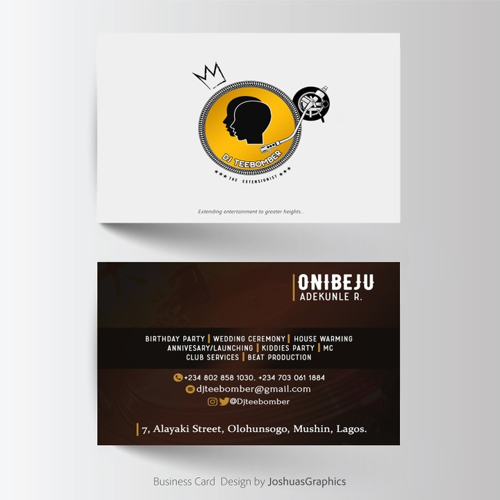 Rate this business cards design out of 10 art graphics video dj teebomber reheart Gallery