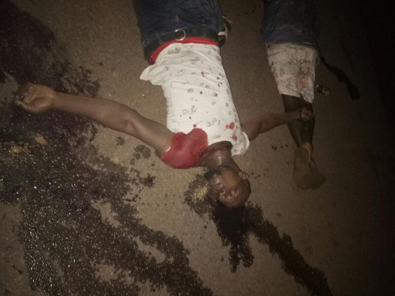 Two Youth Leaders Shot Dead At A Beer Parlour In Imo State. Graphic Photos
