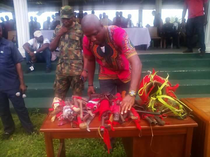 Weapons And Charms Recovered From Cultists In Rivers State (Photos)
