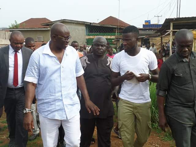 What A Corper Did When He Saw Fayose That Made Him Get Automatic Job (Pics)