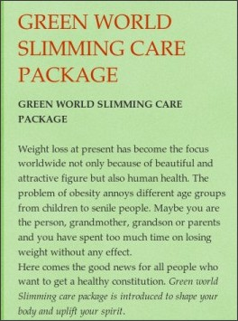 Green World Slimming Pill For Tummy Blasting Adverts Nigeria