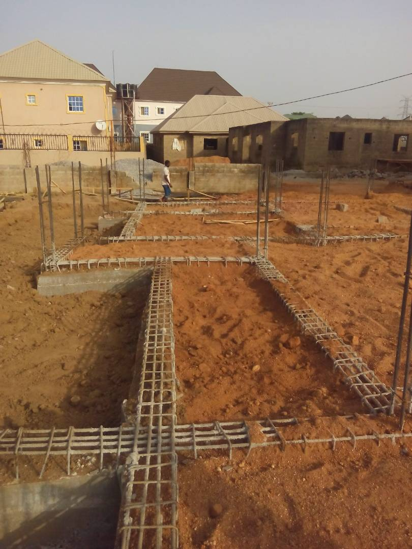 This is the raft foundation we are doing in abuja my men are still here working re new 6 bedroom duplex construction by tigerkenn