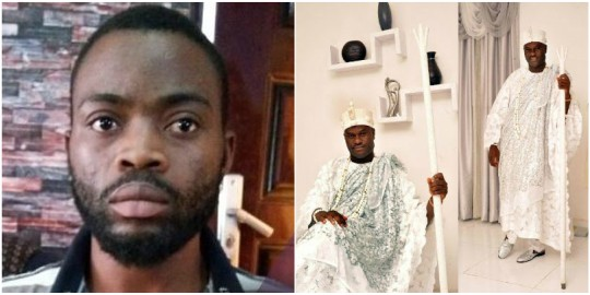 OMG : Yahoo Boy Who Impersonated Ooni Of Ife Dupes Two U.S Ladies