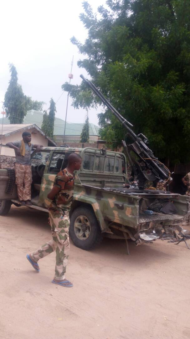 Soldiers Kill 15 Boko Haram Members In Sambisa Forest, Recover Heavy Weapons (Pics)