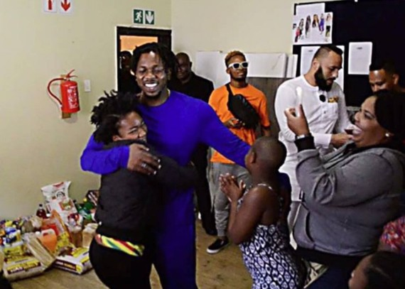 Runtown Visits Orphanage Home In South Africa