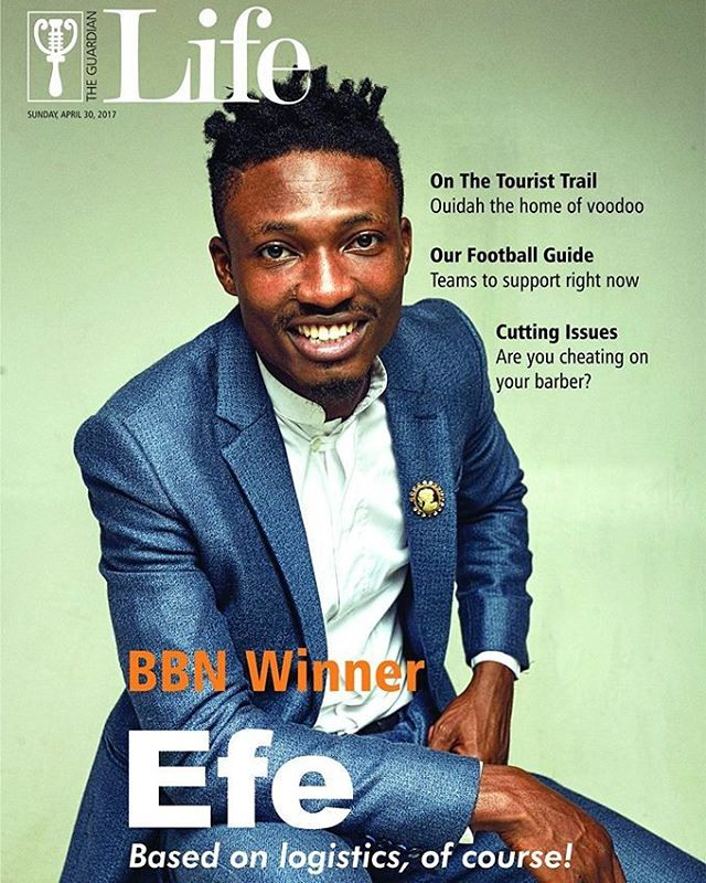 Efe Covers The Guardian Magazine, Latest Edition