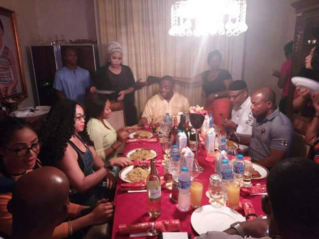 Image result for fani kayode and kanu eating