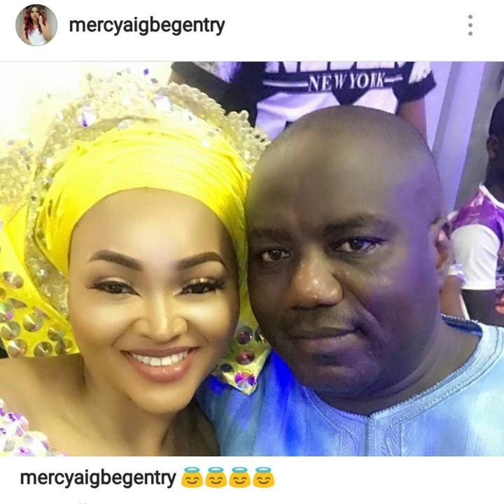 Was It All A Lie? Mercy Aigbe Shares Loved Up Picture With Husband