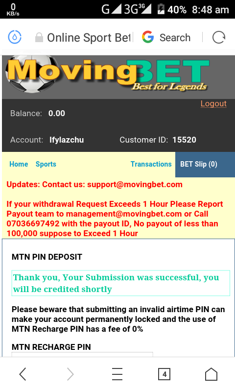 Who Else Is Using This Airtime Deposit Betting Site