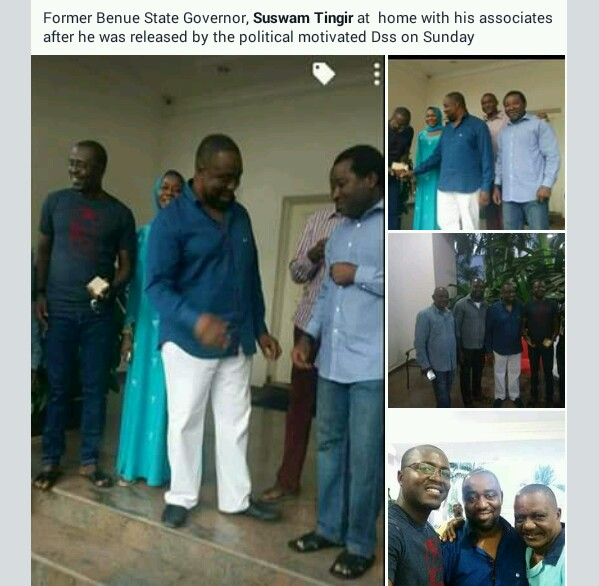 DSS Releases Former Benue State Governor – Gabriel Suswam (Photos)