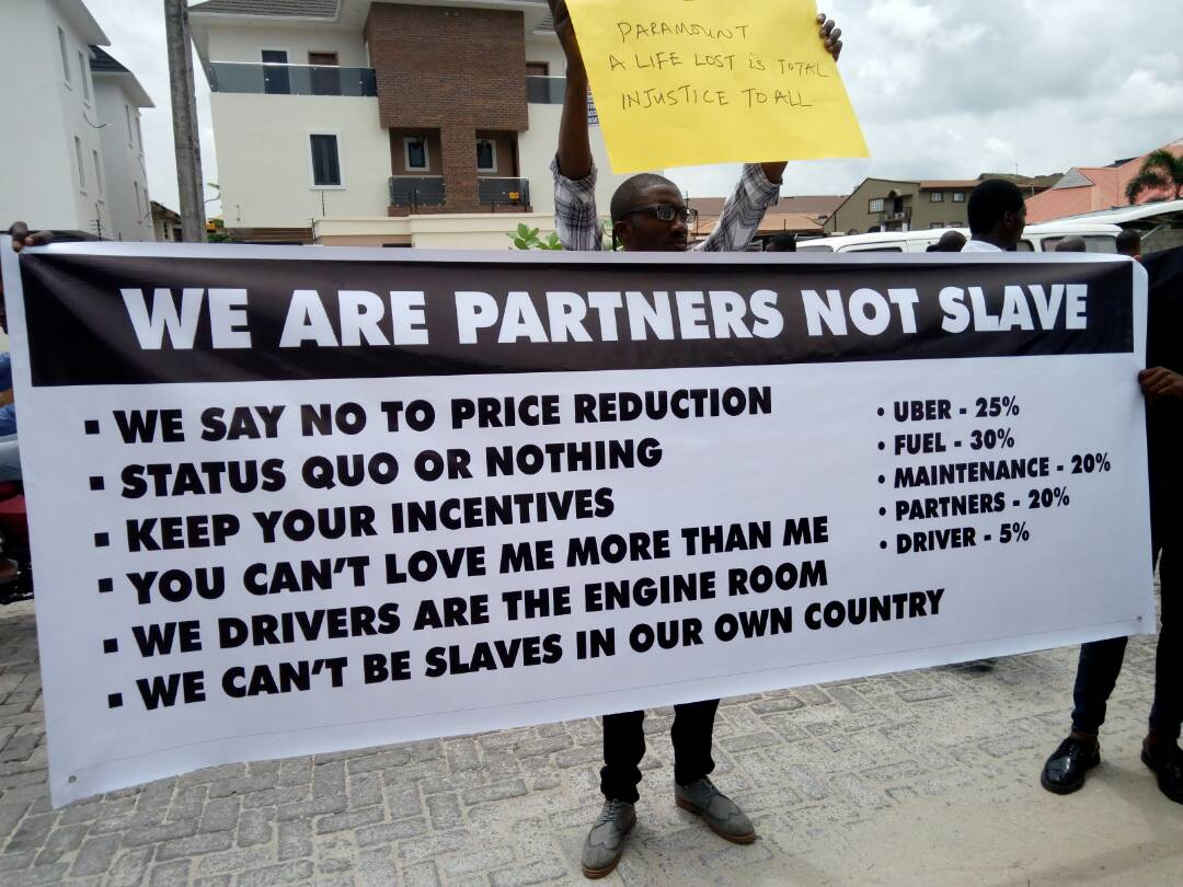 Uber drivers protest against 40% fare reduction - Brand Spur